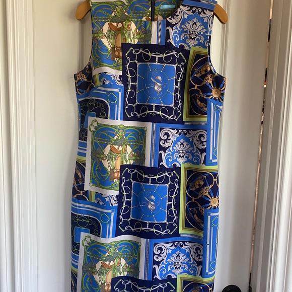 J.McLaughlin Equestrian Print Dress